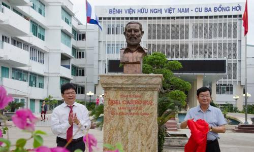 BV hữu nghị Việt Nam-Cuba Đồng Hới khánh thành khu khuôn viên, tượng đài Fidel Castro